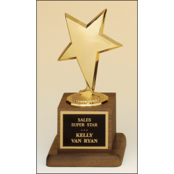 Metal goldtone modern star casting trophy