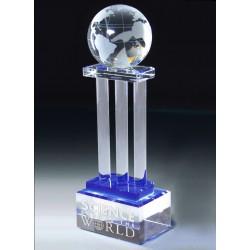 Crystal Globe with Pillars