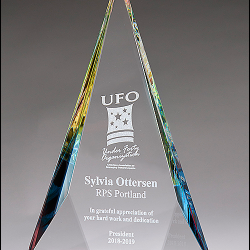 Prism-Effect Diamond Series Crystal Award