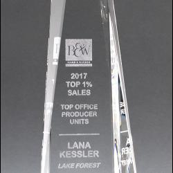 Obelisk Series Crystal Award