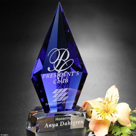 Azurite Crystal Award