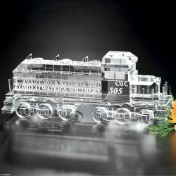 Locomotive Train Crystal Award