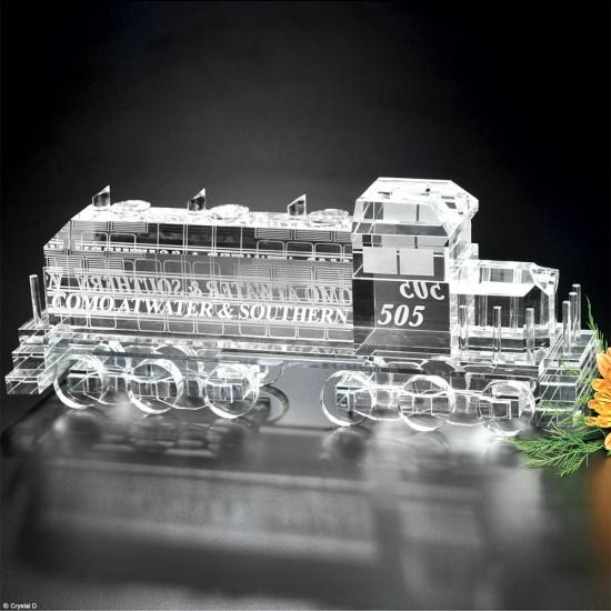 Locomotive Train Crystal Award