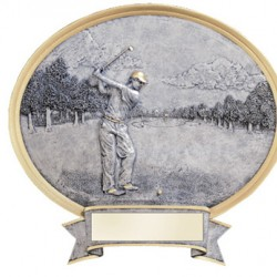 "Resin Shield Golf 8.5"" x 8"" Trophy"