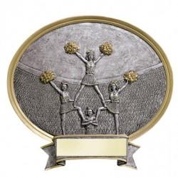 "Resin Shield Cheerleader 6.5"" x 6"" Trophy"