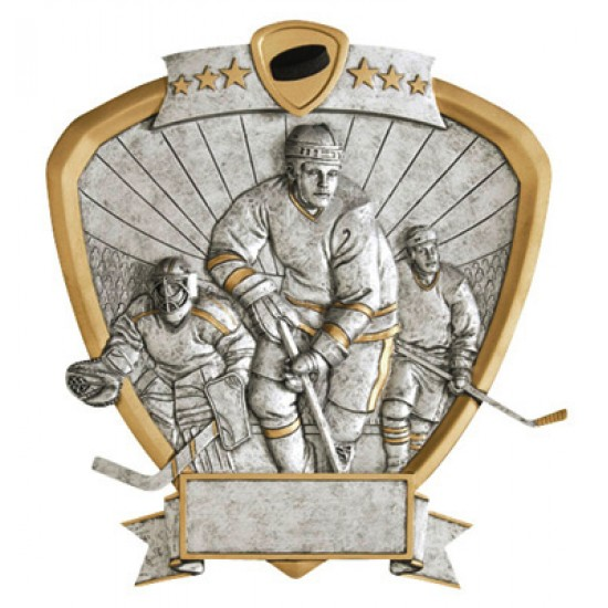 "Resin Shield Hockey 8.5"" x 8"" Trophy"