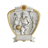 "Resin Shield Basketball 8.5"" x 8"" Trophy"
