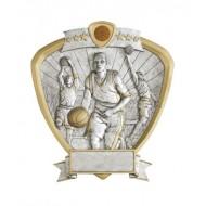 "Resin Shield Basketball 8.5"" x 8"" Trophy"