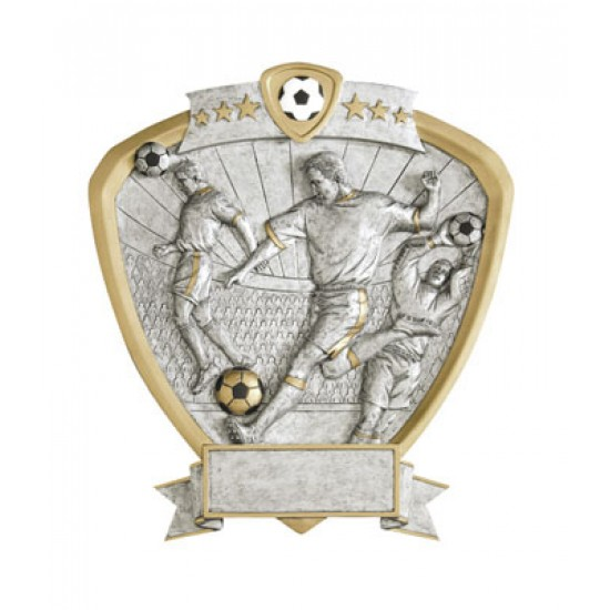 "Resin Shield Soccer 8.5"" x 8"" Trophy"