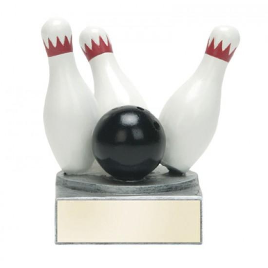 """Color TEK Resin Bowling 4"""" Trophy"""