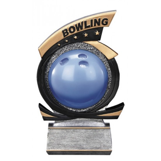 """Bowling Resin 7"""" Trophy"""