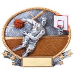 Resin Oval Plates Basketball Award