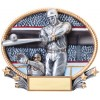 "Resin Oval Plates 8.25"" x 7""Baseball Trophy"
