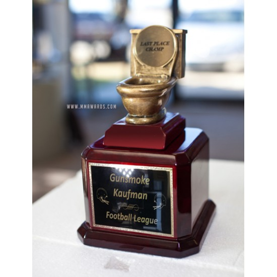 Toilet Bowl Last Place Fantasy Football Trophy