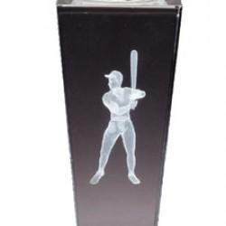 Prism Optical Crystal Baseball Trophy
