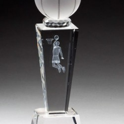 Prism Optical Crystal Basketball Trophy