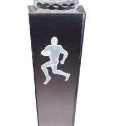 Prism Optical Crystal Football Trophy