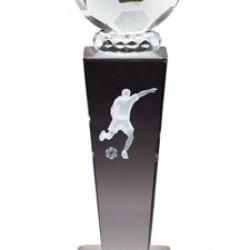 Prism Optical Crystal Soccer Trophy