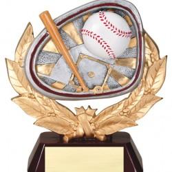 "Color 5.5"" Resin Stamford Series Baseball Trophy"