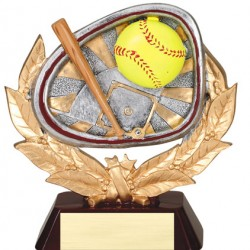 """Color 5.5"""" Resin Stamford Series Softball Trophy"""