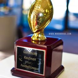 Metallic Gold Resin Fantasy Football Trophy
