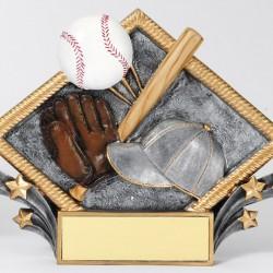 Color 7.5 Resin Diamond Series Baseball Trophy