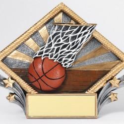Color 7.5 Resin Diamond Series Basketball Trophy