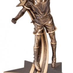 Sleek Modern Designs Resin 6.5 Soccer Trophy
