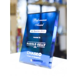 Elegant Blue Glass Corporate Awards