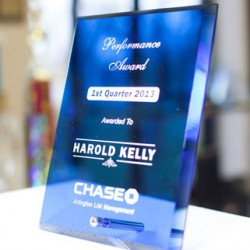 Elegant Blue Glass Corporate Awards