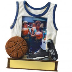 Painted Photo Jersey Resin Basketball Trophy