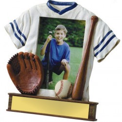 Painted Photo Jersey Resin Baseball Trophy