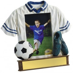 Painted Photo Jersey Resin Soccer Trophy