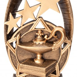 Multi Color Radiant Star Series Trophy