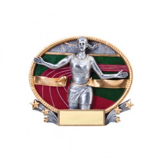 Resin Oval Plates Track & Field Award (3D223)