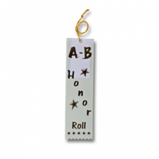 STRB11C - A-B-Honor roll Stock Carded Ribbon