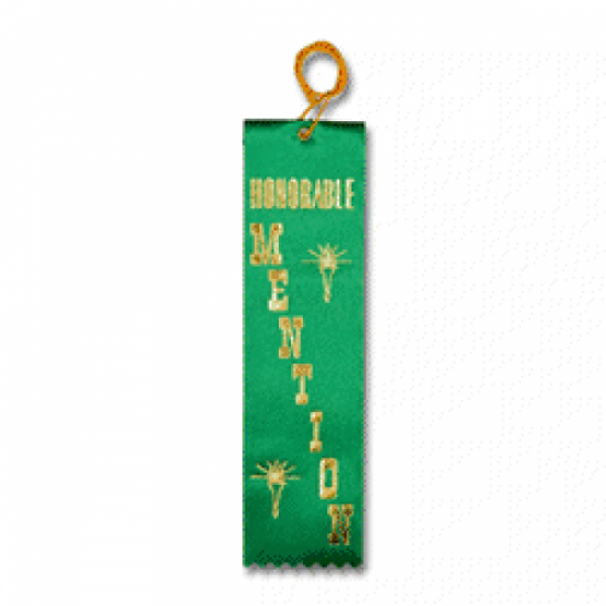 STRB11C - Honorable Mention Stock Carded Ribbon