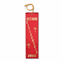 STRB11C - Outstanding Citizenship Stock Carded Ribbon
