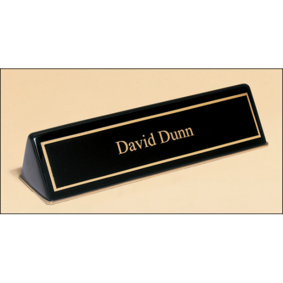 Black Stained Piano Finish Nameplate
