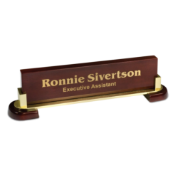 PIANO FINISH & METAL NAME BAR
