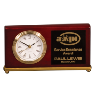 HORIZONTAL PIANO FINISH DESK CLOCK