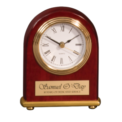 ARCH PIANO FINISH DESK CLOCK