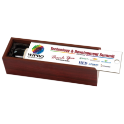ROSEWOOD SINGLE WINE BOX WITH FULLCOLOR LID