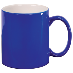 11 OZ BLUE ROUND LASERMUGS