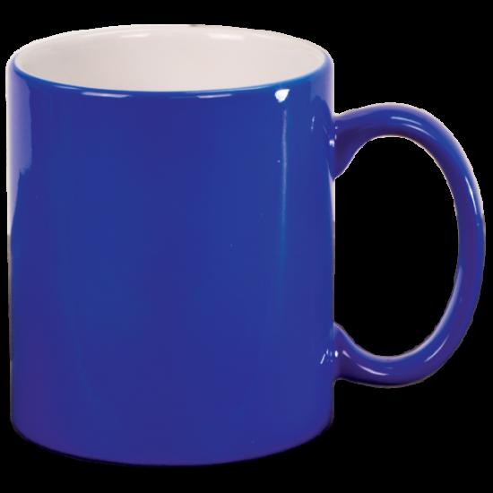 11 OZ BLUE ROUND LASERMUGS
