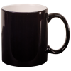 11 OZ BLACK ROUND LASERMUGS