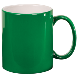 11 OZ GREEN ROUND LASERMUGS