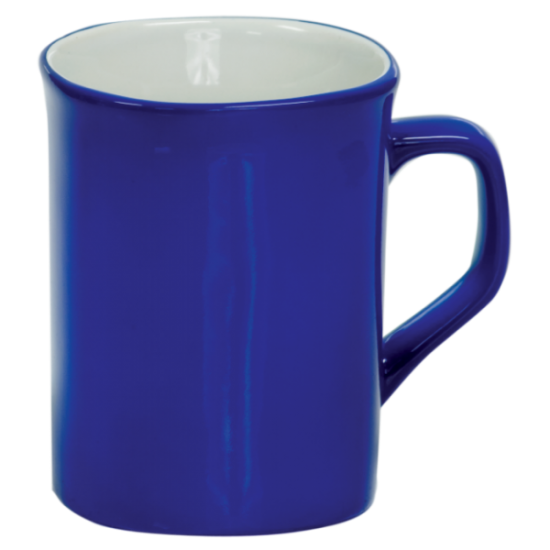 10 OZ BLUE ROUNDED CORNER LASERMUGS