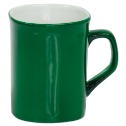 10 OZ GREEN ROUNDED CORNER LASERMUGS