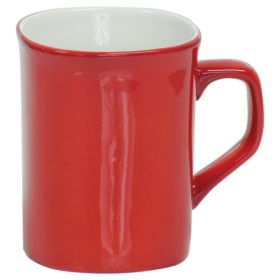 10 OZ RED ROUNDED CORNER LASERMUGS